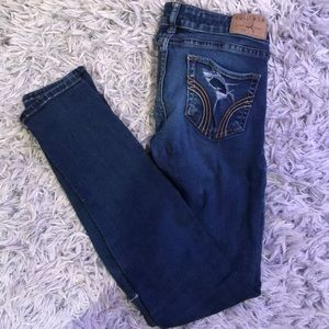 Hollister Blue Ripped Skinny Jeans